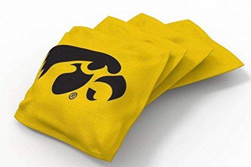 PROLINE 6x6 NCAA College Iowa Hawkeyes Cornhole Bean Bags - Solid Design (Iowa Hawkeyes Ncaa Bean Bag)