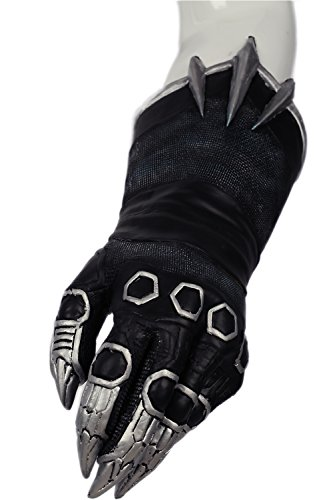 Black Panther Claw Gloves Cosplay Costume Accessories Halloween Xcoser
