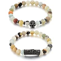 Couple & Combo Natural Stones Reiki/Yoga Healing Stylish Distance Buddha Charm Bracelet. Fashion Jewellery.