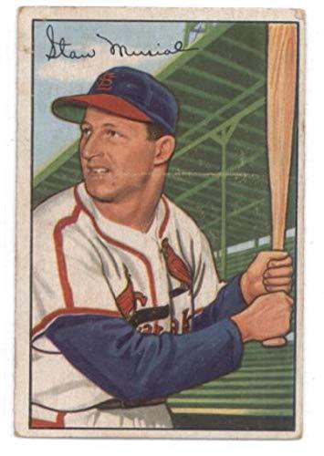 1952 Bowman #196 Stan Musial Cardinals MLB Baseball Card G/VG Good/Very Good ()