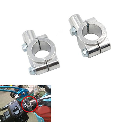 Alpha Rider Universal Chrome Motorcycle Bike Handlebar Rearview Mirror Mount Adapter Clamp 10mm for Aprilia BMW Ducati Honda Kawasaki Suzuki Triumph Yamaha Street Bike Sport Off road Scooter Naked ATV