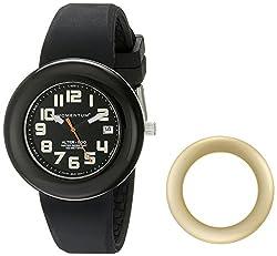 Momentum Women's 1M-SP99BY1B Alter Ego Yellow Bezel Black Watch