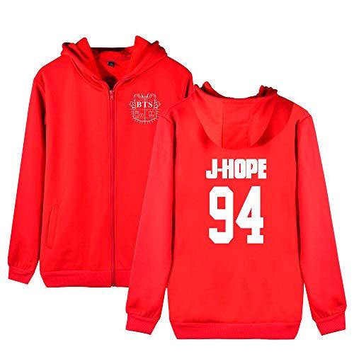 E Donne Hoodie Bts Allentato Felpe Unisex Con Per Plus Sportive Moda Cashmere Aivosen Uomini Red7 Cappuccio Outwear Comode Cappotto Zip qTUxXwRX5y