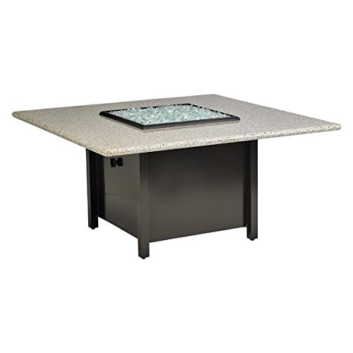 American Fire Products Carmel Series Outdoor Gas Fire Pit Table by, Square, 48-Inch, Sunset Gold Granite Top (Gold Sunset Granite Top)