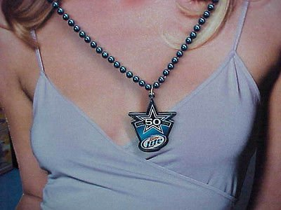 Dallas Cowboys Beads Necklace 50th Anniversary Miller Lite Medallion NFL 2010 from Bankston's Card & Comics