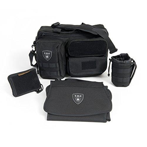 Tactical Baby Gear Deuce 2 0 Tactical Diaper Bag Combo Set And Changing Mat  Black