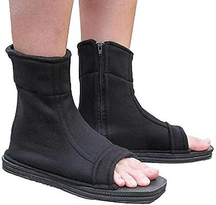 AV SUPPLY Naruto Uchiha Sasuke Haruno Sakura Ninja Cosplay Black Shoes Sandals Boots Kakashi Shoes Cosplay Costume Accessories Black