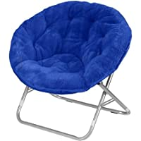 Mainstays Faux-Fur Saucer Chair, Royal Spice