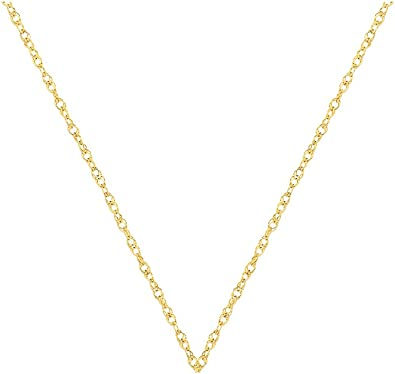 """14k White Gold 1.0mm Carded Cable Rope Chain Necklace 16/"""" 24/"""""""