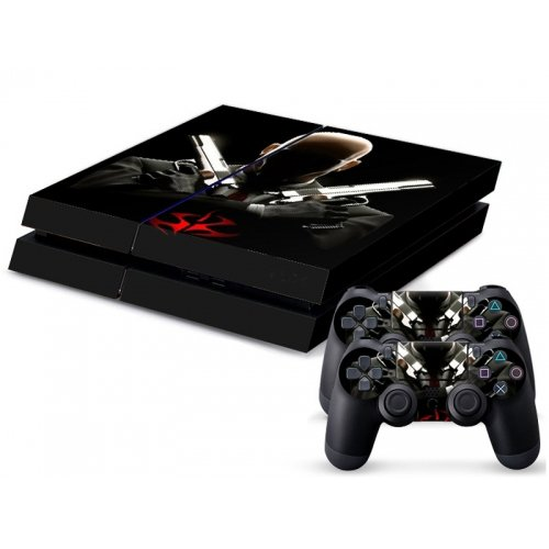 HITMAN AGENT 47 SKIN PROTECTOR FOR SONY PS4 AND 2 CONTROLLER