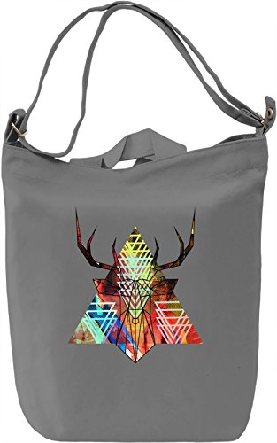 Line Deer Borsa Giornaliera Canvas Canvas Day Bag| 100% Premium Cotton Canvas| DTG Printing|