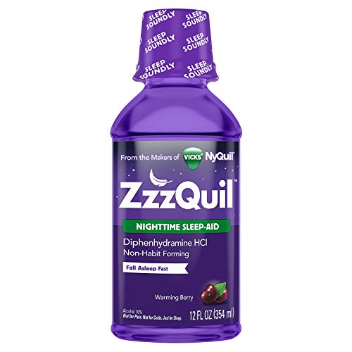 Vicks ZzzQuil Nighttime Sleep Aid Liquid by Vicks, Warming Berry Flavor, 12 Fl Oz