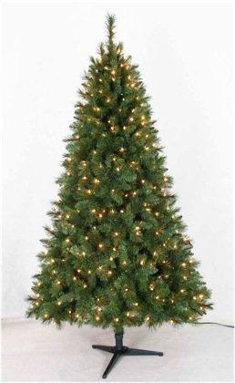 Artificial Cluster Fir Pre-lit Christmas Tree 6.5 Ft.
