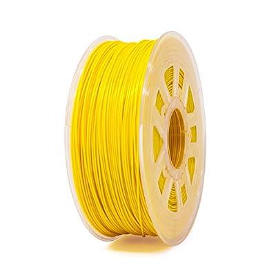 Gizmo Dorks Flexible TPU 3D Printer Filament 1.75mm 1kg, Yellow