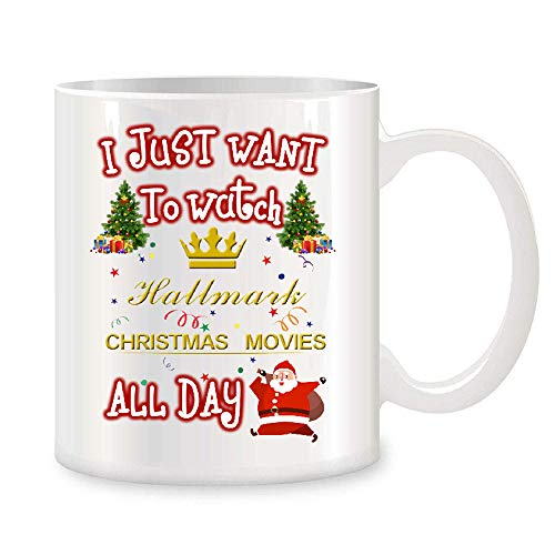 Enoch Slsiek Mug Life I Just Want to Watch Hallmark Christmas Movies All Day Coffee Mug Funny 11 Ounce