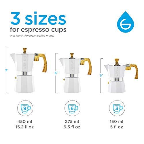 GROSCHE Milano Moka Stovetop Espresso Coffee Maker (6 Cup/9.3 oz, White) by GROSCHE (Image #4)