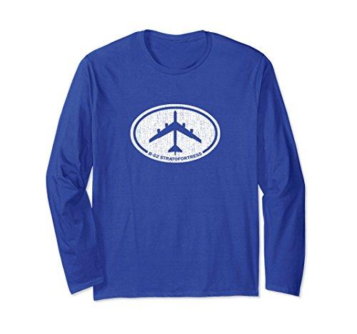 Unisex B-52 Stratofortress Bomber Airplane Long Sleeve T-Shirt Small Royal (Bomber Long Sleeve T-shirt)