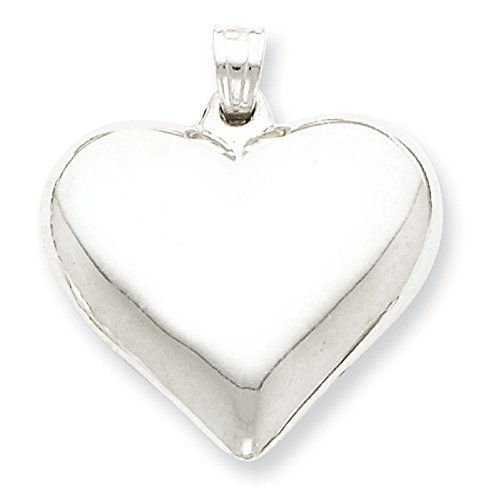 West Coast Jewelry Sterling Silver Polished Puffed Heart Pendant