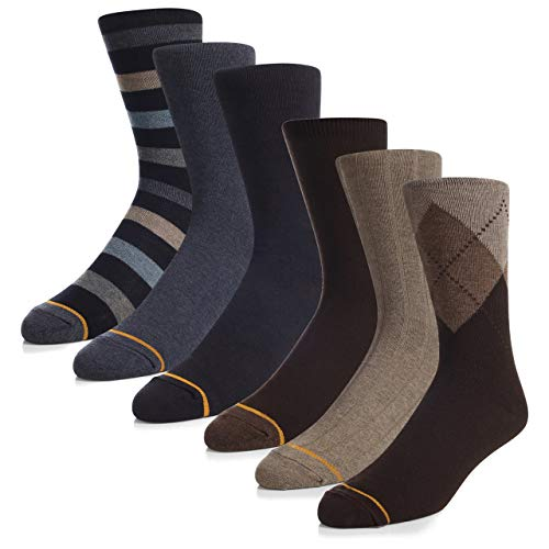 - Gold Toe Men's Casual Argyle 3 Pair Socks Navy and Gray