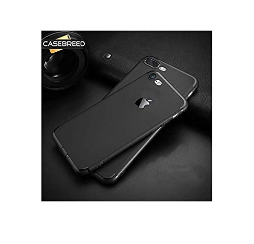 COVERNEW Rubber Back Cover for Apple iPhone 7   Black