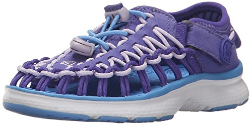 (KEEN Unisex-Kids Uneek O2 Dress Sandal, Liberty/Azure Blue, 10 M US Big Kid)