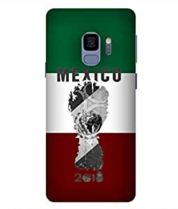 ColorKing Football Mexico 05 Multi Color shell case cover for samsung S9