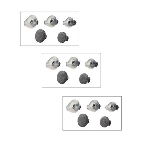 Price comparison product image Plantronics (72913-01-3) 3-Pack Replacement Ear Tips for CS70 and Voyager 510 / 510S models