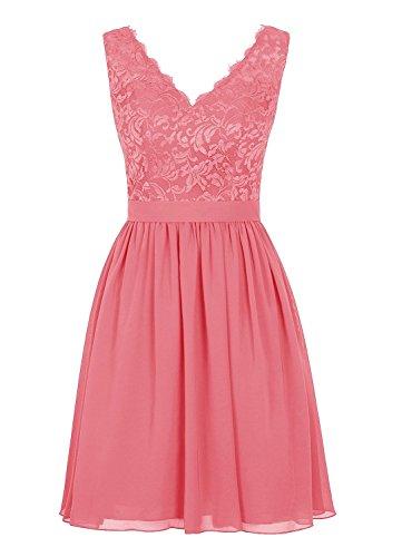 Buy beautiful short pink dress - 8