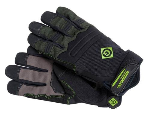 Extended Tab Cuff - Greenlee 0358-14XL Tradesman Gloves, Black, Extra Large