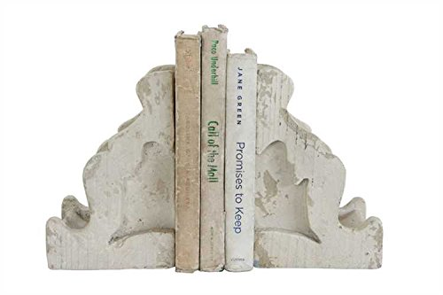 Chateau Distressed White Corbel Bookends
