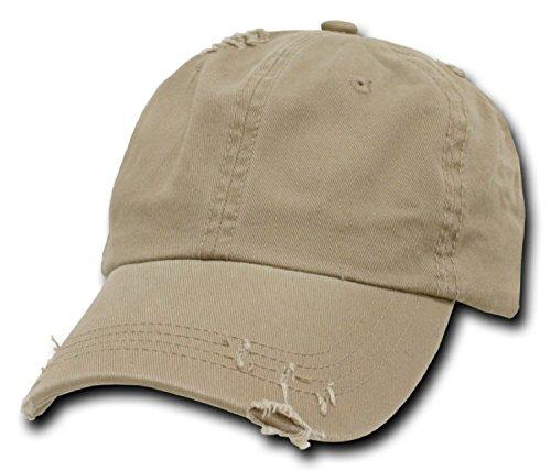 DECKY Vintage Polo Cap Baseball Caps (Adjustable , khaki)