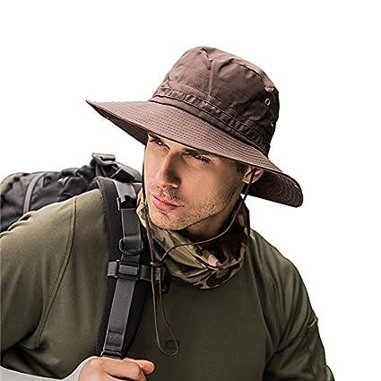 112e5b31517fd HeroStore Summer Fishing Hat Man Women Wide Breathable Mesh Beach Hats Sun  Men  s