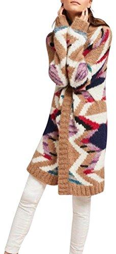 Anthropologie Hand Knit Mosaic Cardigan By Moulinette Soeurs  298 Sz M L  Nwt