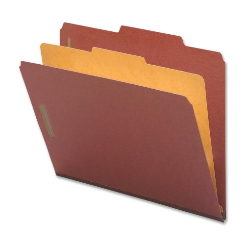 Classification Folders, Letter, 1 Partition, 10/BX, Red