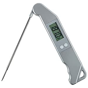 ThermoStick Digital Folding BBQ Meat Thermometer - Silver