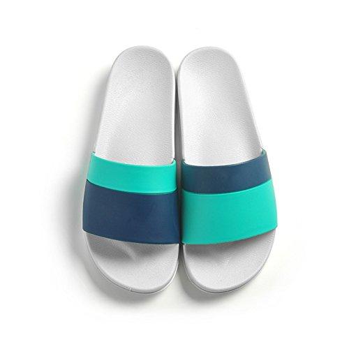 Piso Baño Baño de fankou Zapatillas Masculino Interiores Mujer Verano Minimalista Parejas Antideslizante Verde Cool 41 Nórdico Estancia Azul Suave Familiar OwPSqw0