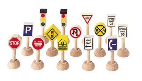- Plan Toys Set of Traffic Signs and Lights 1 (Usa)
