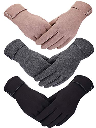 Patelai Winter Gloves Touchscreen Windproof