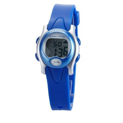Carcasa sumergibles Digital cronómetro reloj con alarma para niños (azul) niña: Amazon.es: Relojes