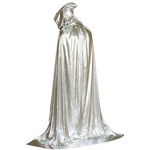 Costume Adulte ESHOO Fancy Blanc Unisexe capuche Cape Party Manteau Halloween Pour T5HI1qH