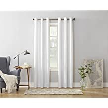 No. 918 Montego 48 x 84 Inch Grommet Curtain Panel, White