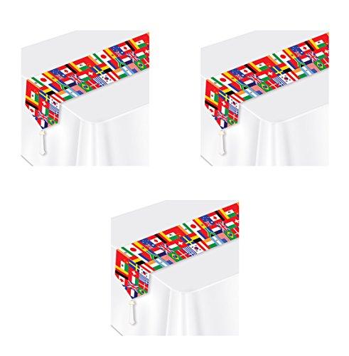 Beistle S57905AZ3 flag table runner Multicolored ()
