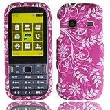 For T-mobil Samsung T379 Gravity Txt Accessory - Purple Flower Flower Design Hard Case Proctor Cover + Lf Stylus Pen