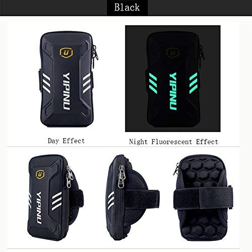 sports armband Waterproof SportsCellPhone ArmBag, Cool and CasualNight Running Armband for Workout inGym, Running, Cycling,Hiking,Horse Riding,Jogging,and Nordic Skiing (black, Small)