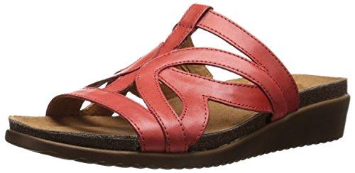 Naturalizer Fryna de la mujer sandalias de cuña Rojo