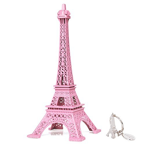 SICOHOME Eiffel Tower Decor,Pink Eiffel Tower for Cake -
