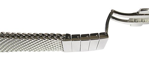 Staib 22mm Polished Heavy Mesh 4.5mm Stainless Steel Watch Band 2793 by Staib (Image #2)