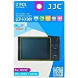 JW LCP-HX90V 2 Kits Low Reflection Anti-smudge High Transmission Perfect Cutting LCD Guard Film Display Screen Protector For Sony DSC-HX90V WX500 + JW emall Micro Fiber Cleaning Cloth