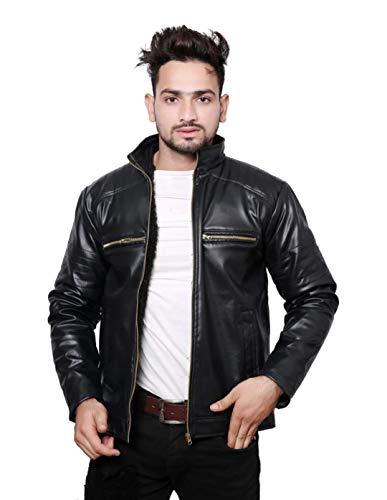 Men's Solid Biker Jacket