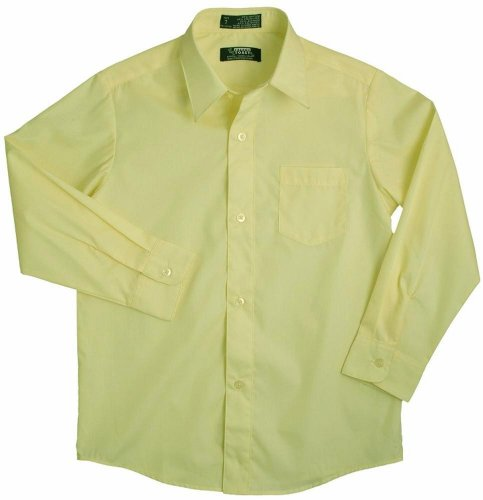 French Toast - Little Boys LS Poplin Dress Shirt Style E9004, Yellow 34137-2T ()